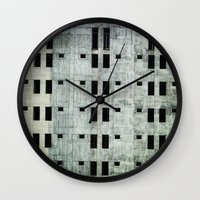 building Wall Clocks featuring Building by Sumii Haleem