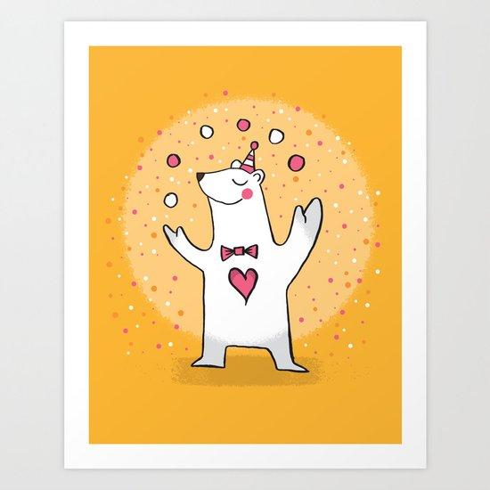 CIRCUS BEAR Art Print