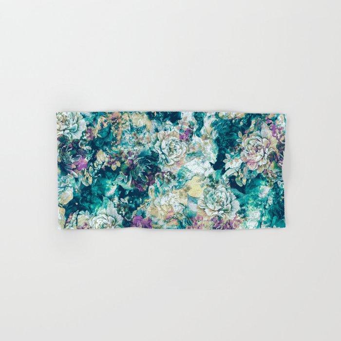 Frozen Flowers Hand & Bath Towel