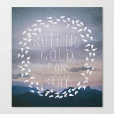 II. Nothing Gold Can Stay Canvas Print