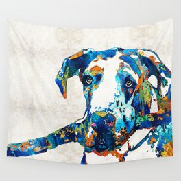 Great Dane Art - Stick With Me - By Sharon Cummings Wall Tapestry