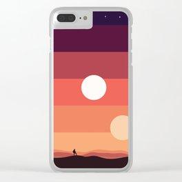 Tatooine Sunset Clear iPhone Case