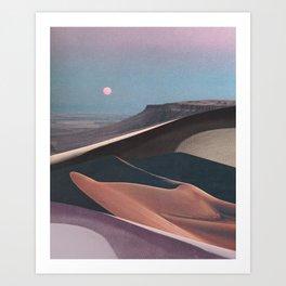 Mirage Moon Art Print