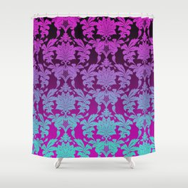 Ombre Damask Shower Curtain
