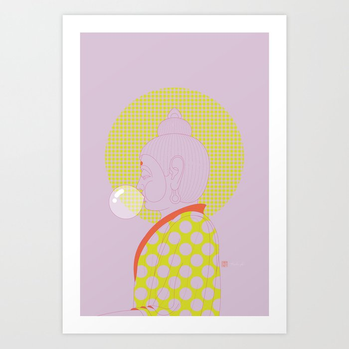 Buddha : Concentrate on the Void! (PopArtVersion) Art Print