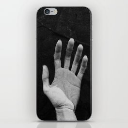 Hand in wather iPhone Skin
