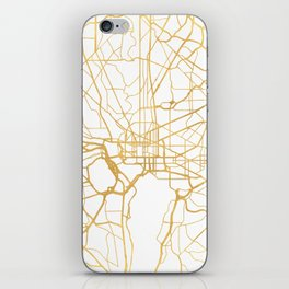WASHINGTON D.C. DISTRICT OF COLUMBIA CITY STREET MAP ART iPhone Skin