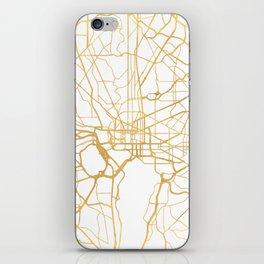 WASHINGTON D.C. DISTRICT OF COLUMBIA CITY STREET MAP ART iPhone Skin