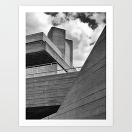 diagonal concrete Art Print