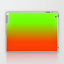 Neon Green and Neon Orange Ombré  Shade Color Fade Laptop & iPad Skin