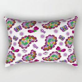 Butterfly Paisely Rectangular Pillow