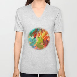 Autumn Lights and Colors Unisex V-Neck