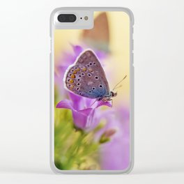 Blue winged butterfly Clear iPhone Case