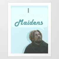 westeros Art Prints featuring Maiden by Passion Grows Within