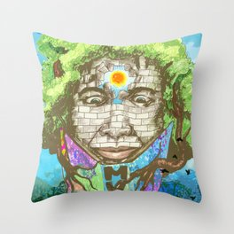 breaking down the wall Throw Pillow