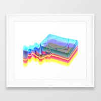 playstation Framed Art Prints featuring Sony Playstation by Jpeg Artifact