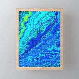 Vibrant Marble Texture no58 Framed Mini Art Print