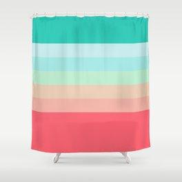 7 Colorful Retro Summer Stripes Airesekui Shower Curtain