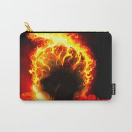 The Fire Burning Skull Carry-All Pouch