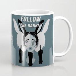 Follow the Rabbit Coffee Mug
