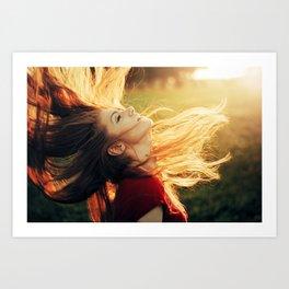 Free as my Hair Art Print