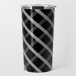 Gray White Square Pattern Geomeric Travel Mug