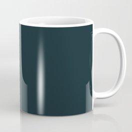 Pensive Daisy Dark Blue-Green Coffee Mug