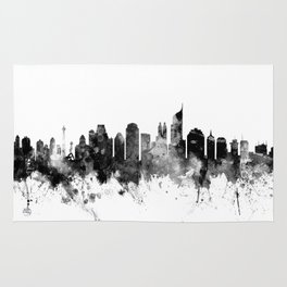 Jakarta Skyline Indonesia Rug