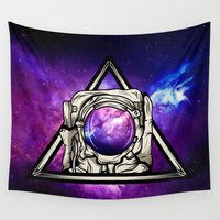 astronaut Wall Tapestries featuring Astronaut by Pancho the Macho