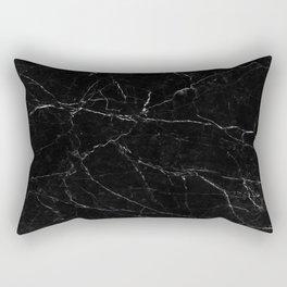 Black Marble Print Rectangular Pillow