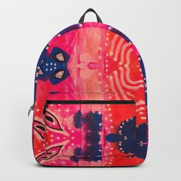 Coral Pink Boho Backpack