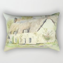 Picturesque Dunster Cottage Rectangular Pillow