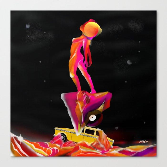 A c i d MND Surfer  Canvas Print