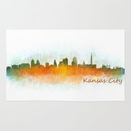 Kansas City Skyline Hq v3 Rug