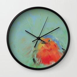 Robin and Green Wall Clock