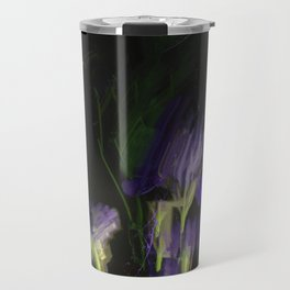 Night expression, irises and aquilegia Travel Mug