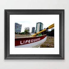 Save Me - English Bay Lifeguard Post Framed Art Print