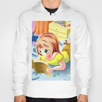 bible Hoodies featuring Girl Reading the Bible by Bemmygail