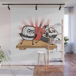 Sushi Samurai Battle Wall Mural