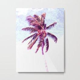 Palm Tree Violet Illustration Metal Print