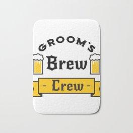 Groom Funny Groom's Brew Crew Bath Mat
