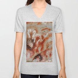 Cave Art Lascaux Hands Unisex V-Neck