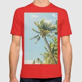 Kenolio Beach Hawaiian Coconut Palm Trees Kīhei Maui Hawaii T-shirt