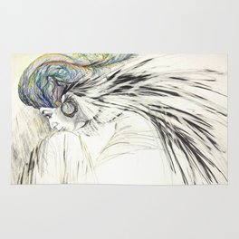 Lady with a Feather Turban Rug
