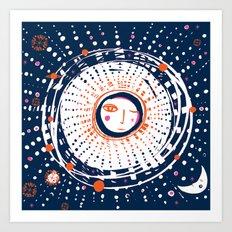 Sol Azul Art Print