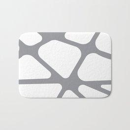 Unique gray and white organic design Badematte