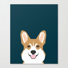 Teagan - Corgi Welsh Corgi gift phone case design for pet lovers and dog people Canvas Print