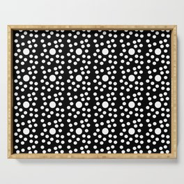 new polka dot 6 -black and white Serving Tray