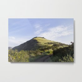 Sunny Mountain Sunrise Metal Print
