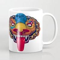 mythology Mugs featuring Artificial Mythology by Diligence